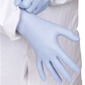 GNDR-LG-1 Large 6MIL Blue Powered Nitrile Gloves