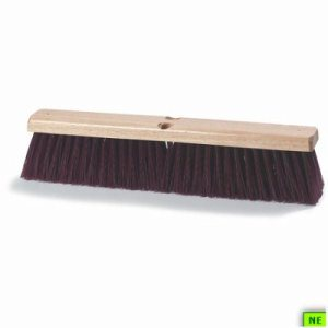"CAR3621933600 36"" Crimped Polypro Maroon Floor Sweep"