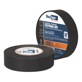 EV57 3/4 x 66ft Black Electrical Tape 100rls/cs