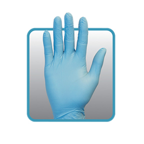 GNDR-XL-1 XLG 6MIL Blue Powered Nitrile Gloves