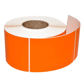 4 x 6 Orange Direct Thermal Label, Perf'd, .125 Corner