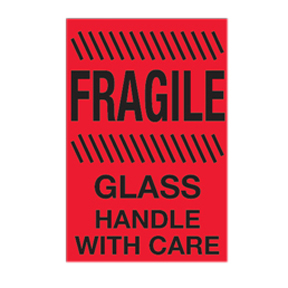 "DL1982 4 x 6 ""Fragile/Glass/Handle w/Care"""