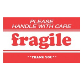 "DL1270 3 x 5 ""Please Handle With Care Fraglie Thank You"""