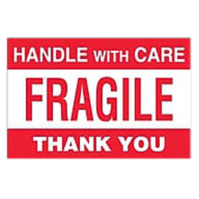 "SCL566 3 x 5 ""Please Handle With Care Glass Thank You"""
