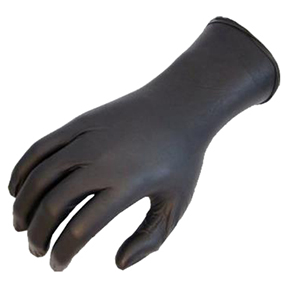 "A151923 Large 4mil 9.5"" Black Nitrile Powder Free Glove"