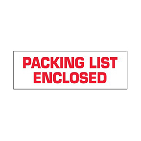 "T901P03 2 x 55yds ""Packing List Enclosed"" Pre-Printed"