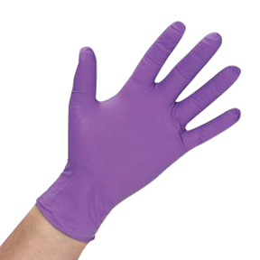 "A151882 Medium 4.7mil 9.5"" Purple Nitrile Powder Free"