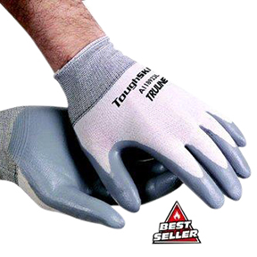 A118921 #6890S Small Gray Nitrile Coated Glove per doz