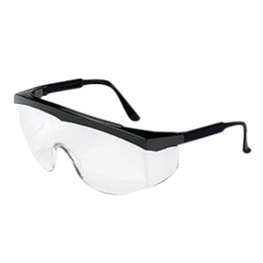 CRESS110 Clear Anti-Scratch Lens w/Black Frame Safety