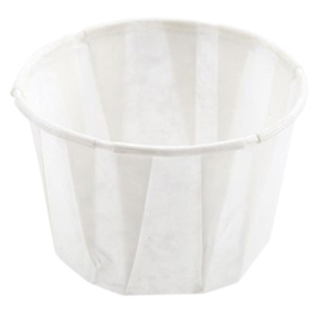 F125 1.25oz Pleated Paper portion Souffle Cup 5000/cs