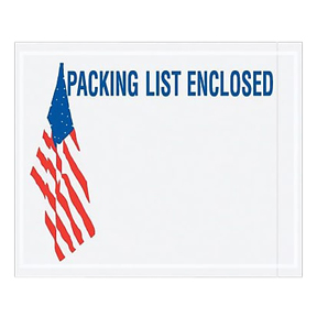 "ENVPQUSA12 4 1/2 x 5 1/2 USA Flag Red/White/Blue ""Packing"