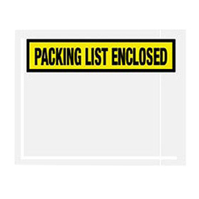 "PL433 10 x 12 Yellow ""Packing List Enclosed"" 1/4Face"