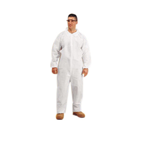 CVL-KG-LRG Large White Microporous Coverall, No Hood