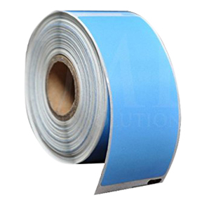 4 x 6 Blue Direct Thermal Label, Perf'd, .125 Corner