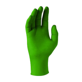 MCRN881-10 Small 5.5mil Green Nitrile Powdered Free Glove