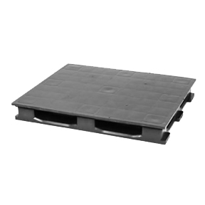 48 x 40 Standard 4 Way Black Plastic Industrial Pallet