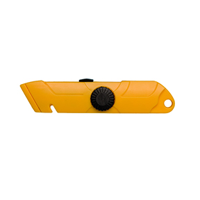 Model P Yellow Plastic Safety Spring Back Utility Cutter